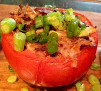 Chicken Bacon Ranch Stuffed Tomatoes
