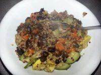 Quinoa, Black Beans with Zucchini and Yellow Squash